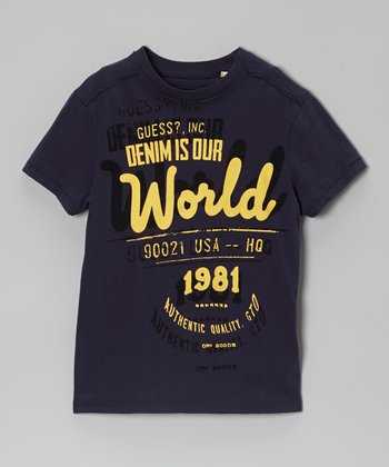 Navy 'Denim Is Our World' Tee - Toddler & Boys