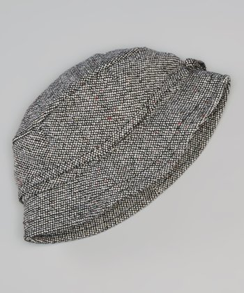 Brown Tweed Wool-Blend Bucket Hat - Women