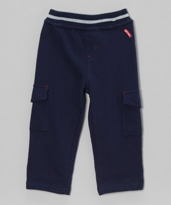 Navy Cargo Pants - Infant & Toddler