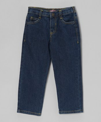 Denim Blue Straight-Leg Jeans -& Toddler - Toddler