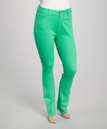 Green Marilyn Stretch Skinny Jeans - Plus