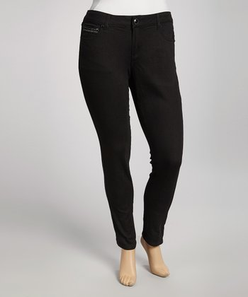 Black Arches Skinny Jeans - Plus