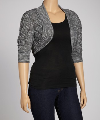 Dark Gray Bolero - Plus