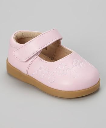 Sneak A' Roos Pink Flower Squeaker Mary Jane