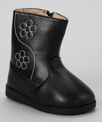 Black Flower Squeaker Boot
