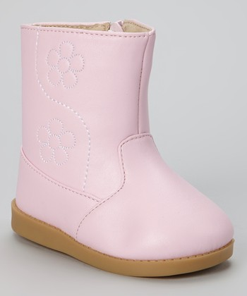 Pink Flower Squeaker Boot