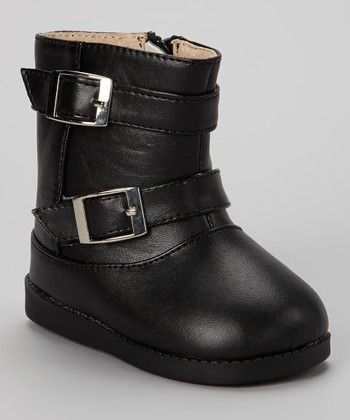 Sneak A' Roos Black Buckle Squeaker Boot