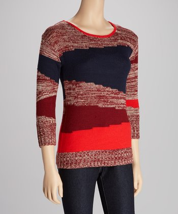 Navy & Red Stripe Esme Sweater