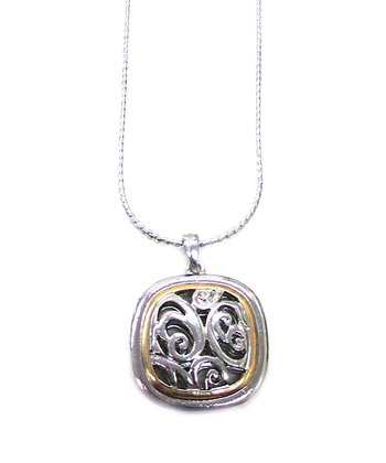 Silver Filigree Pendant Necklace