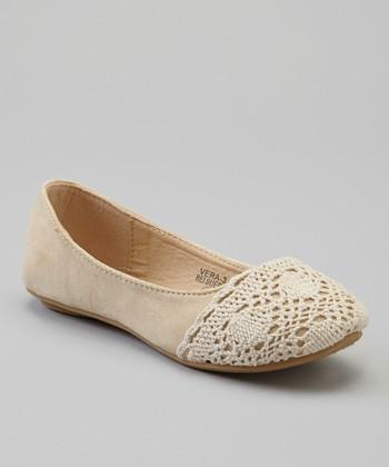 Anna Shoes Beige Vera Ballet Flat