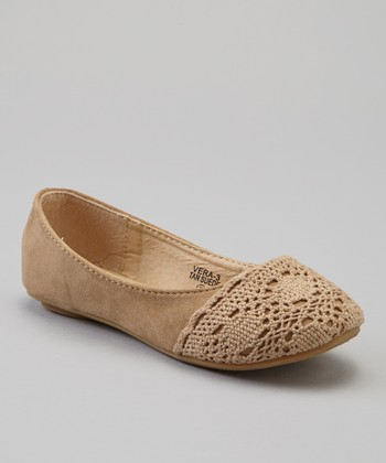 Anna Shoes Tan Vera Ballet Flat
