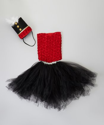 Red & Black Nutcracker Dancer Tutu Set - Girls