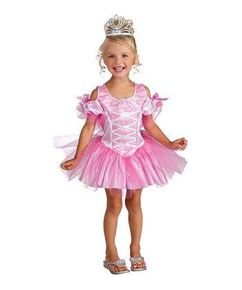Rubie's Pink & White Tiny Dancer Dress-Up Set - Toddler