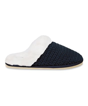 Navy Holly Grove Slipper