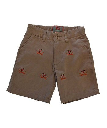 Khaki Virginia Stadium Shorts - Boys
