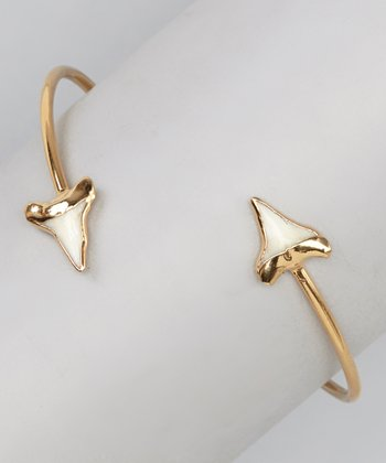 Gold Shark Tooth Bangle