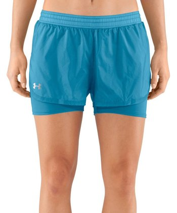 Deceit Blue See Me Go Translucent Two-in-One Shorts