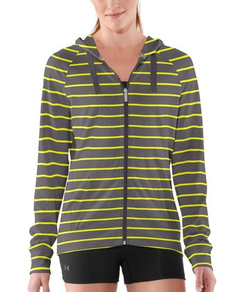 Charcoal & Yellow Charged Cotton® Undeniable Zip-Up Hoodie