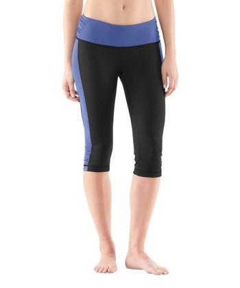 Black & Blue Hot Class Capri Pants