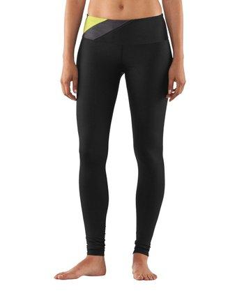 Black & Yellow Perfect Shape Leggings