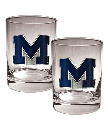 Michigan Rocks 14-Oz. Glasses - Set of Two