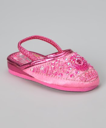 Hot Pink Sequin Slipper
