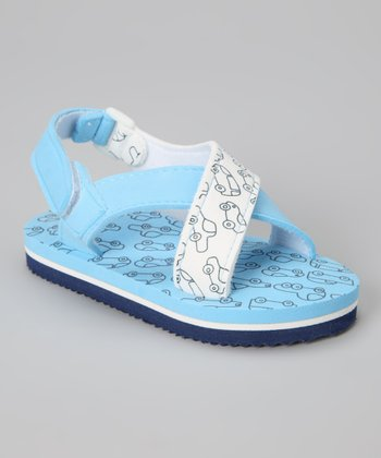 Blue Traffic Sandal