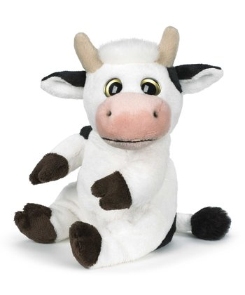 White & Black Classics Big Eye Cow Plush Toy