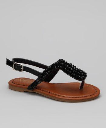 Black Donnuts Sandal