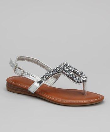 Silver Donnuts Sandal