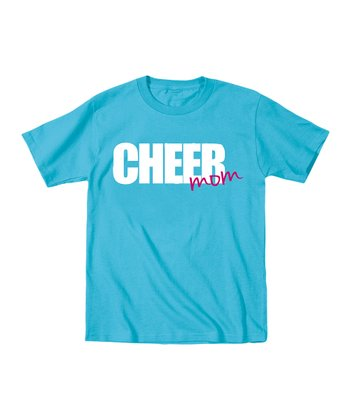 Electric Blue 'Cheer Mom' Tee - Women