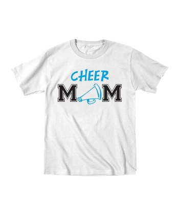 White 'Cheer Mom' Megaphone Tee - Women