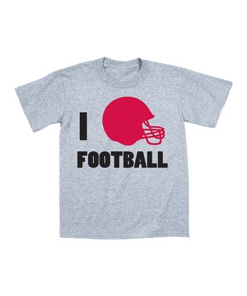 Heather 'I Helmet Football' Fitted Tee - Women