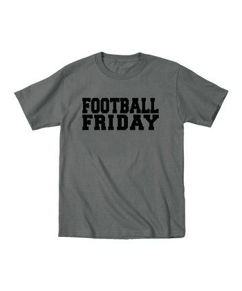 Charcoal 'Football Friday' Tee - Toddler & Boys