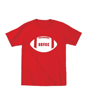 Red Football Personalized Tee - Toddler & Boys