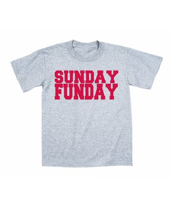 Heather Gray 'Sunday Funday' Tee - Toddler & Boys