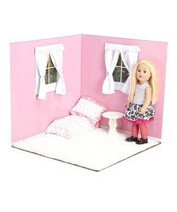 Pink & White 18'' Doll Room Set