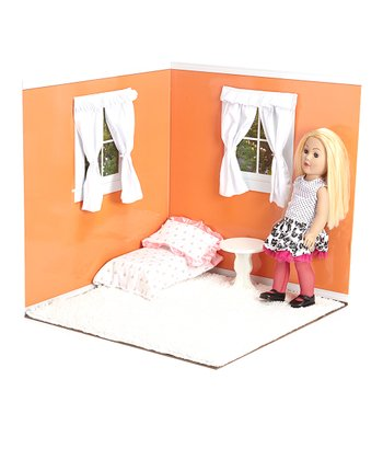 Tangerine & White 18'' Doll Room Set