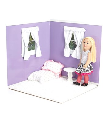 Purple & White 18'' Doll Room Set