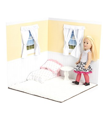 Harvest Yellow & White 18'' Doll Room Set