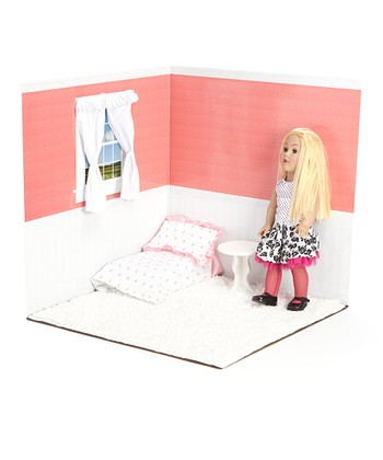 Rose & White 18'' Doll Room Set