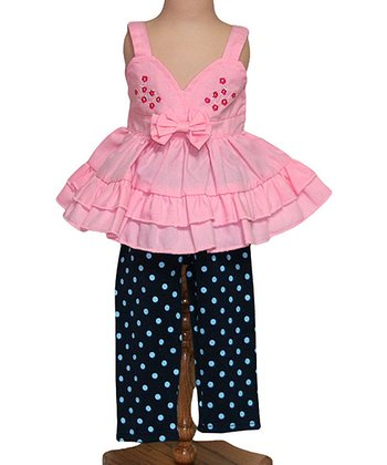 Pink Meadow Dancer Doll Top & Leggings