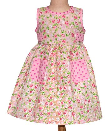 Pink Meadow Patchwork 18'' Doll Dress