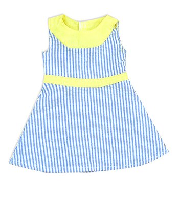 Blue & Yellow Summer Doll Dress