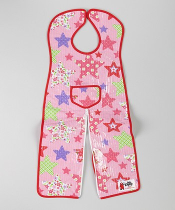 Pink Star Infant Coverall Bib