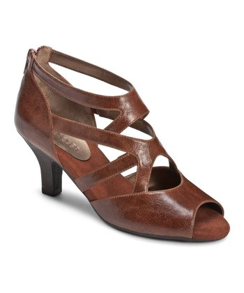 Brown Halifax Open Toe Shoe
