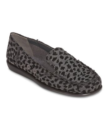 Gray & Black Leopard So Soft Loafer