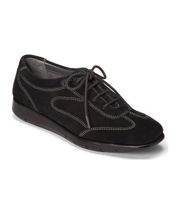 Black Suede Port of Call Shoe