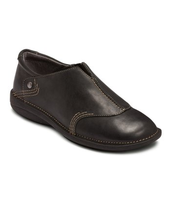 Black Tucker Slip-On Shoe