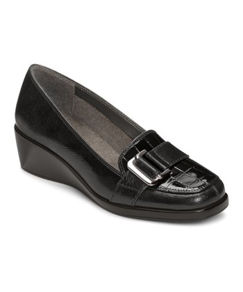 Black Crocodile Temptress Loafer